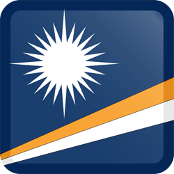 Flagge der Marshall Islands - Knopfleiste