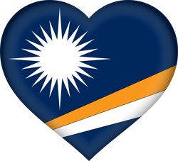 Flagge der Marshall Islands - Herz 3D