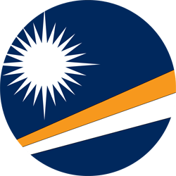 Flagge der Marshall Islands - Kreis