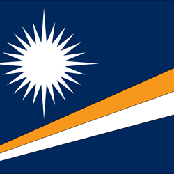 Flagge der Marshall Islands - Quadrat