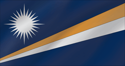 Flagge der Marshall Islands - Welle