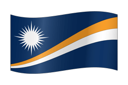 Flagge der Marshall Islands - Winken