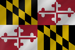 Flagge von Maryland - Welle