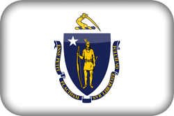 Flag of Massachusetts - 3D