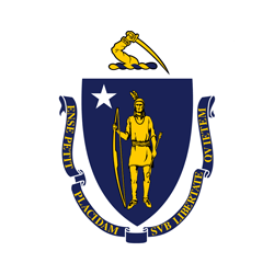 Flag of Massachusetts - Round