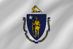 Flagge von Massachusetts - Welle