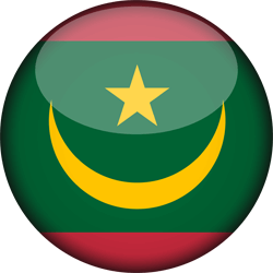 Flag of Mauritania - 3D Round