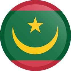 Flag of Mauritania - Button Round