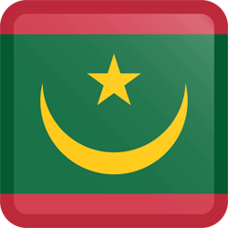 Flag of Mauritania - Button Square