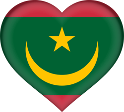 Flag of Mauritania - Heart 3D