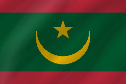 Flag of Mauritania - Wave