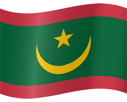 Flag of Mauritania - Waving
