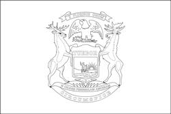 Flagge von Michigan - A4