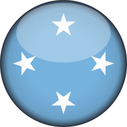 Flag of Micronesia - 3D Round