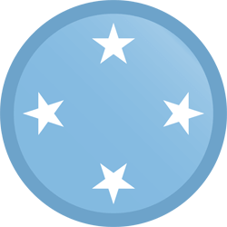 Flag of Micronesia - Button Round