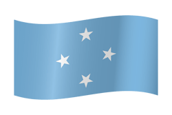 Flag of Micronesia - Waving