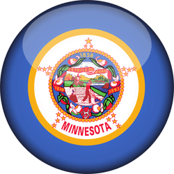 Flag of Minnesota - 3D Round