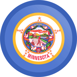 Flag of Minnesota - Button Round