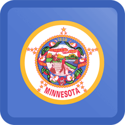 Flag of Minnesota - Button Square
