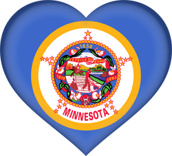 Flag of Minnesota - Heart 3D