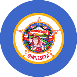 Flag of Minnesota - Round