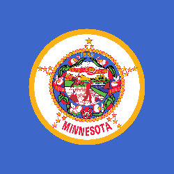 Minnesota flag vector