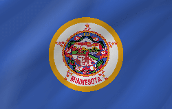 Minnesota flag vector - free download
