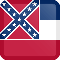 Flag of Mississippi - Button Square