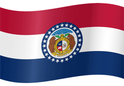 Missouri vlag icon - gratis downloaden