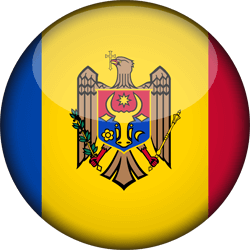 Flag of Moldova - 3D Round