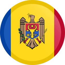 Flag of Moldova - Button Round