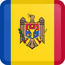 Flag of Moldova - Button Square