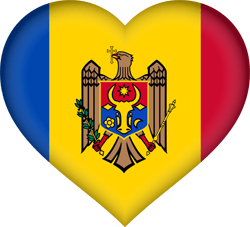 Flag of Moldova - Heart 3D