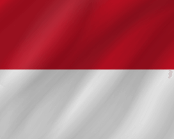Flag of Monaco - Wave