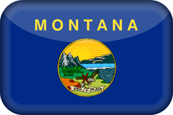 Vlag van Montana - 3D