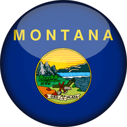 Drapeau du Montana - 3D Rond