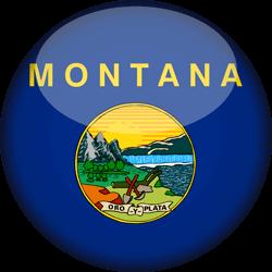 Flag of Montana - 3D Round