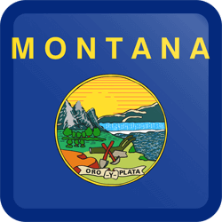 Flag of Montana - Button Square