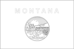 Flagge von Montana anmalen - Gratis Download