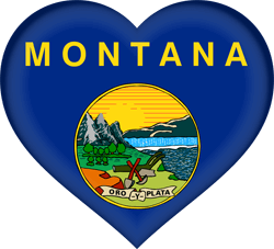 Flag of Montana - Heart 3D