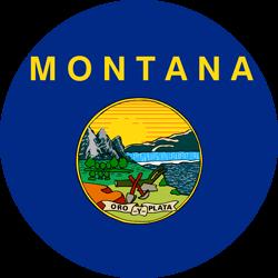 Vlag van Montana - Rond