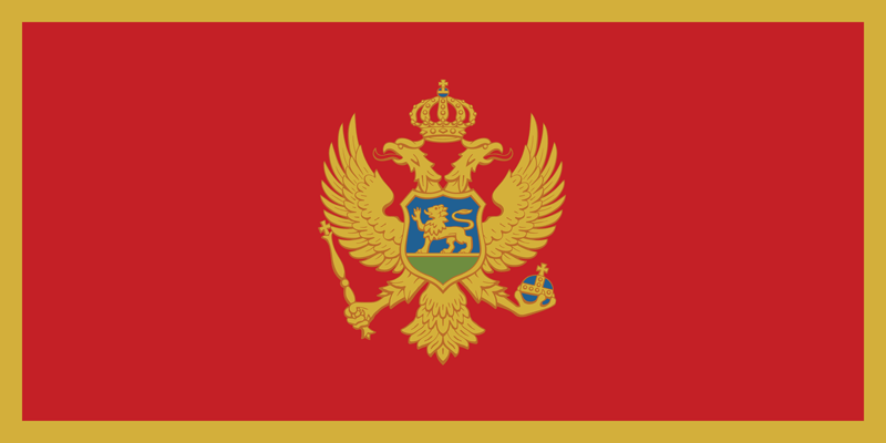 Montenegro flag package