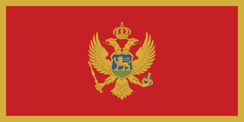Set complet drapeau Monténégro