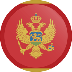 Flag of Montenegro - Button Round