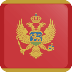 Flag of Montenegro - Button Square