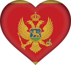 Flag of Montenegro - Heart 3D