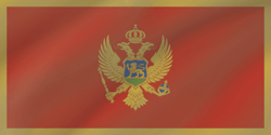 Flag of Montenegro - Wave