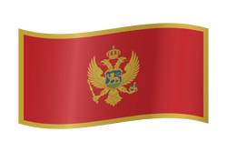 Flag of Montenegro - Waving
