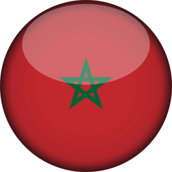 Flag of Morocco - 3D Round