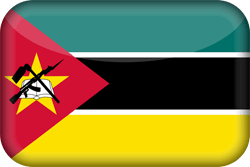 Mozambique vlag icon - gratis downloaden